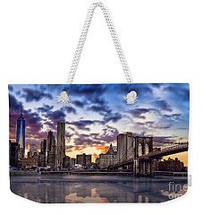 Brooklyn Bridge Manhattan Sunset Weekender Tote Bag