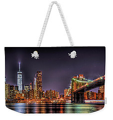 Brooklyn Bridge Park Nights Weekender Tote Bag