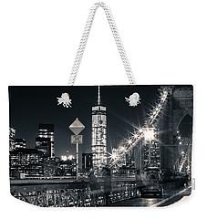 Brooklyn Bridge Weekender Tote Bag by Silvia Bruno