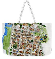 Brooklyn Heights Map Weekender Tote Bag by AFineLyne