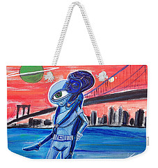 Weekender Tote Bag featuring the painting Brooklyn Play Date by Similar Alien