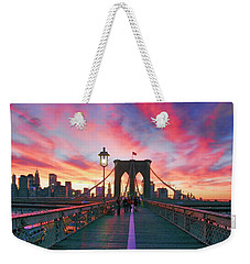 Brooklyn Sunset Weekender Tote Bag by Rick Berk
