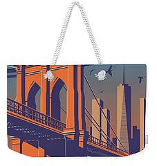 Brooklyn Vintage Travel Poster Weekender Tote Bag