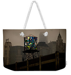 Weekender Tote Bag featuring the photograph Brooklyn Water Tower by Chris Lord
