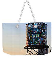 Brooklyn's Glowing Glass Water Tower - Public Art Weekender Tote Bag