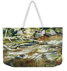 Weekender Tote Bag featuring the painting Brookside by Kris Parins