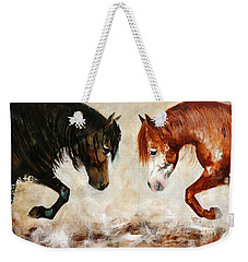 Brothers Hawk And Bo Weekender Tote Bag by Barbie Batson