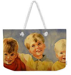 Brothers Weekender Tote Bag by Marilyn Jacobson