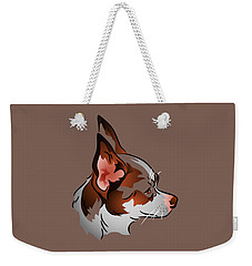 Brown And White Chihuahua In Profile Weekender Tote Bag by MM Anderson