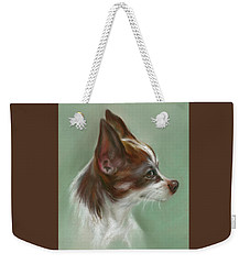 Brown And White Chihuahua Weekender Tote Bag