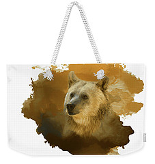 Weekender Tote Bag featuring the painting Brown Bear by Steven Richardson