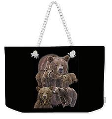Brown Bears 8 Weekender Tote Bag