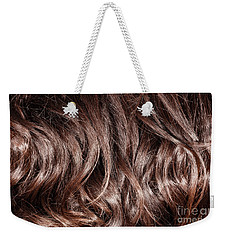 Brown Curly Hair Background Weekender Tote Bag