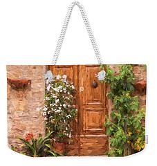Brown Door Of Tuscany Weekender Tote Bag