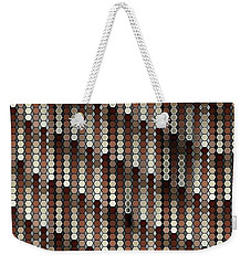 Brown Dot Weekender Tote Bag