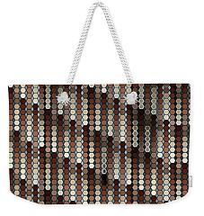 Brown Dot Weekender Tote Bag