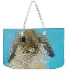 Brown Easter Bunny Weekender Tote Bag by Jan Matson