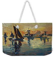 Brown Fleet On The Zaan Weekender Tote Bag by Nop Briex