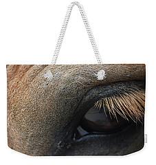 Brown Horse Eye Weekender Tote Bag