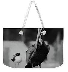 Brown Pelican And Laughing Gull Weekender Tote Bag
