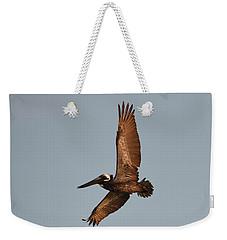 Brown Pelican In Flight No. 2 Weekender Tote Bag