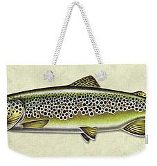 Brown Trout Id Weekender Tote Bag