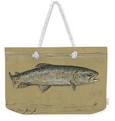 Brown Trout Weekender Tote Bag by Juan Bosco