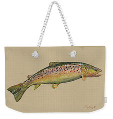 Brown Trout Jumping Weekender Tote Bag
