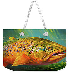 Brown Trout Portrait  Weekender Tote Bag