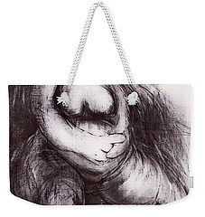 Weekender Tote Bag featuring the sculpture Brownies's Mother / Sitting by Robert F Battles