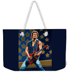 Bruce Springsteen The Boss Painting Weekender Tote Bag by Paul Meijering