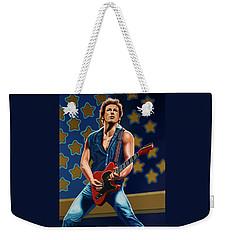 Bruce Springsteen The Boss Painting Weekender Tote Bag