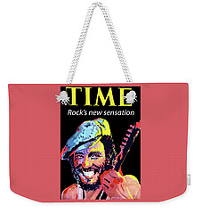 Bruce Springsteen Time Magazine Cover 1980s Weekender Tote Bag