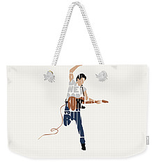 Bruce Springsteen Typography Art Weekender Tote Bag