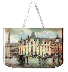 Weekender Tote Bag featuring the painting Bruges, Belgium by Chris Armytage