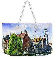 Bruges Belgium Weekender Tote Bag by John D Benson