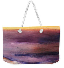 Brushed 6 - Vertical Sunset Weekender Tote Bag