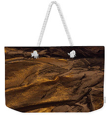 Brushed With Gold Weekender Tote Bag by Nancy Kane Chapman