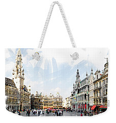Weekender Tote Bag featuring the photograph Brussels Grote Markt  by Tom Cameron