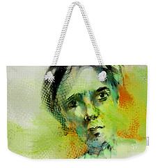 Weekender Tote Bag featuring the painting Bryant by Jim Vance