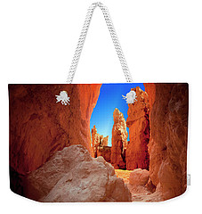 Bryce Canyon Narrows Weekender Tote Bag by Gary Warnimont