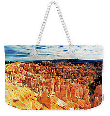 Weekender Tote Bag featuring the photograph Bryce Canyon Overlook by Norman Hall