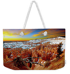 Weekender Tote Bag featuring the photograph Bryce Canyon Sunrise by Norman Hall