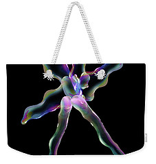 Bubble Dancing Weekender Tote Bag by Gayle Price Thomas