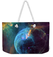 Weekender Tote Bag featuring the photograph Bubble Nebula by Marco Oliveira