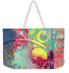 Weekender Tote Bag featuring the painting Bubble Tree - 285l by Variance Collections