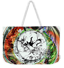 Bubbles 2 Weekender Tote Bag by Elaine Hunter