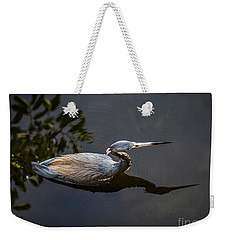 Bubbles And A Blue Heron Weekender Tote Bag