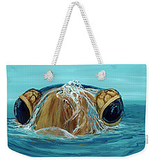 Weekender Tote Bag featuring the painting Bubbles by Darice Machel McGuire