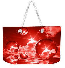 Weekender Tote Bag featuring the photograph Bubbles In The Sun - Red by Shane Bechler